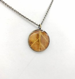 by Kali Brown Resinated Leaf Necklace - by Kali