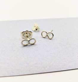 Peter James Jewelry Infinity Stud Earrings in Sterling Silver