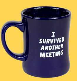 """I Survived a Meeting"" Mug by Will Bryant"