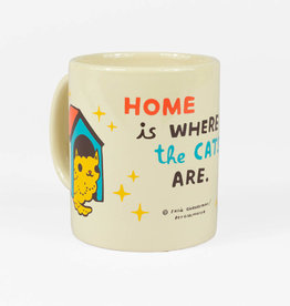 """Home is Where the Cats Are"" Mug by Boy Girl Party"