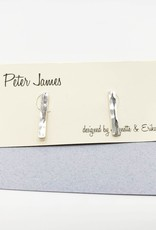 Peter James Jewelry Hammered Bar Stud Sterling Earrings - Peter James Jewelry