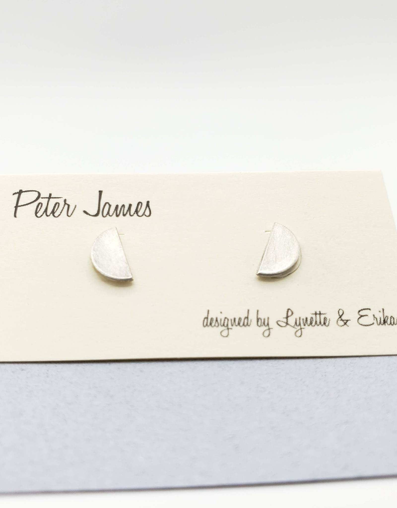 Peter James Jewelry Half Circle Stud Earrings, Sterling Silver - Peter James Jewelry