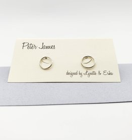 Peter James Jewelry Small Simple Circle Post Earrings, Sterling Silver