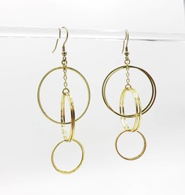 Mata Traders Loop di Loop Earrings Gold Plated