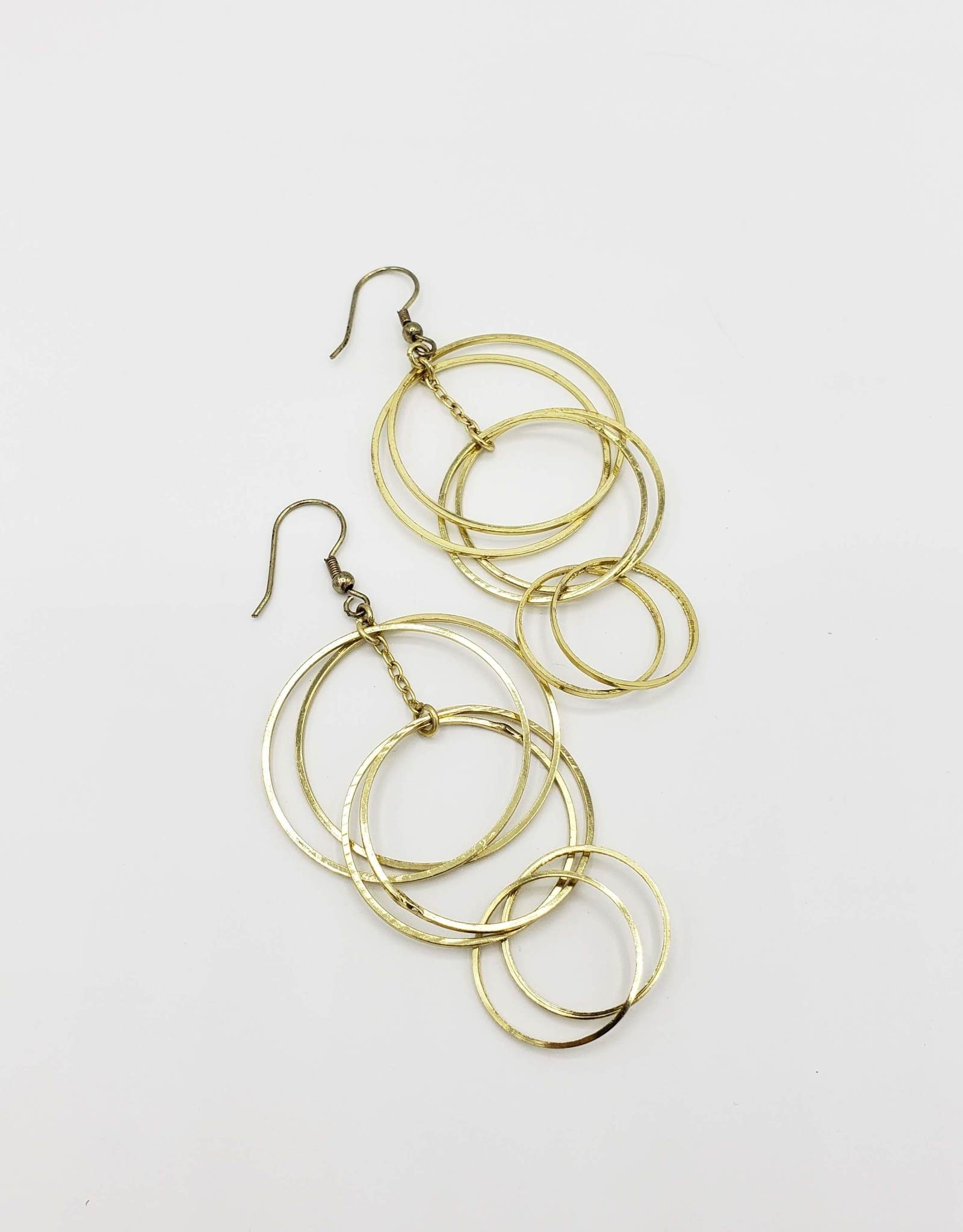 Mata Traders Loop di Loop Earrings Gold Plated