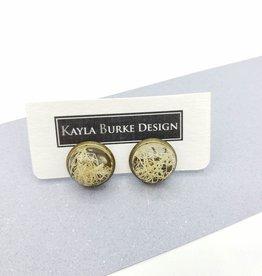 Lichen Resin Stud Earrings