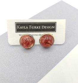 Celosia in Resin Stud Earrings