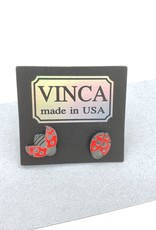 Vinca Ladybug Laser Cut Stud Earrings by Vinca
