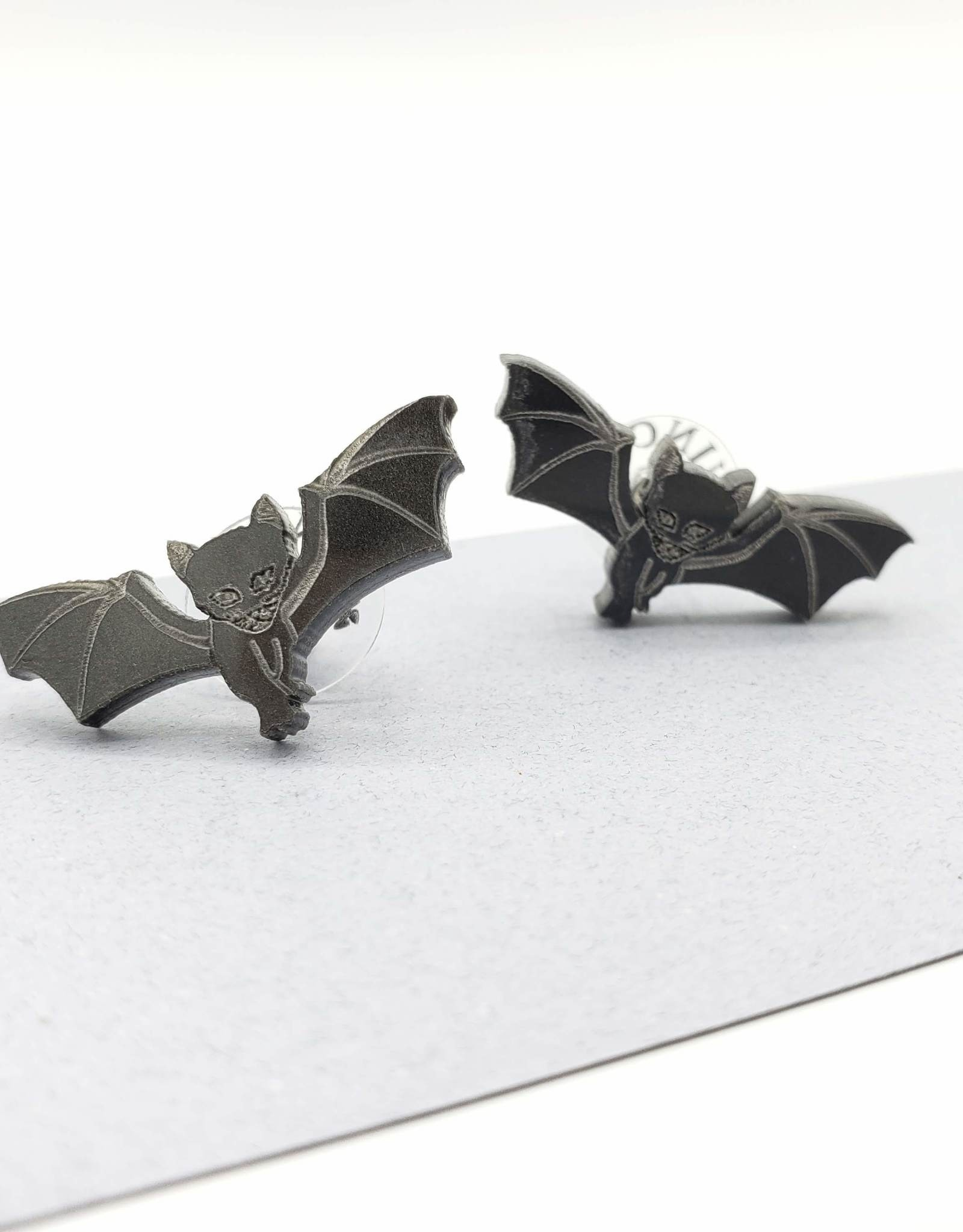 Vinca Kitty Bat Laser Cut Stud Earrings by Vinca
