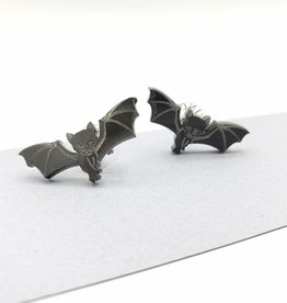 Vinca Kitty Bat Laser Cut Stud Earrings by Vinca