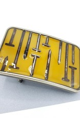 by Kali Rusty Nails in Amber, Resin Belt Buckle - by Kali