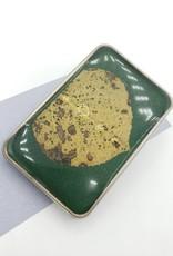 by Kali Aspen Leaf on Green, Resin Belt Buckle - by Kali