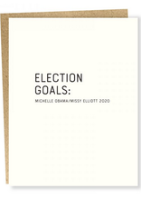 """Election Goals'' Greeting Card - Sapling Press"