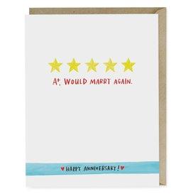 Emily McDowell Five Stars Anniversary Greeting Card - Emily McDowell