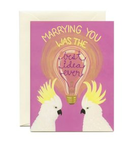 Best Idea Ever Anniversary Greeting Card - Yeppie Paper
