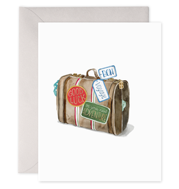 """Good Luck on Your Next Adventure"" Travel Greeting Card - E. Frances Paper"