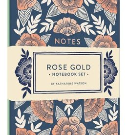 Rose Gold Notebook Set of 2 Foil-Stamped Notebooks By Katharine Watson