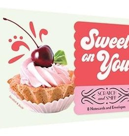 Sweet On You 8 Scratch and Sniff Notecards