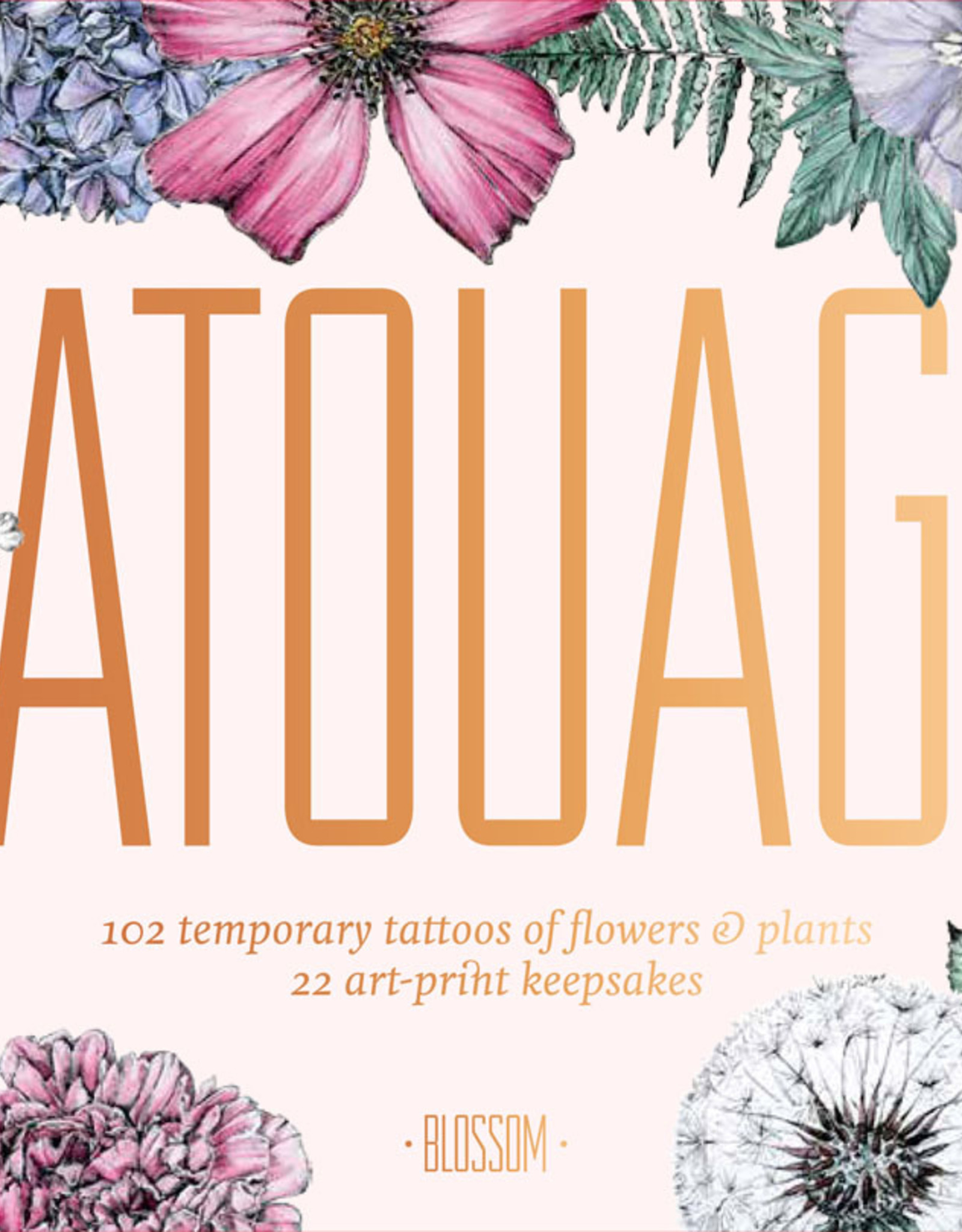 Tatouage: Blossom 102 Temporary Tattoos of Flowers & Plants by Victoria Foster
