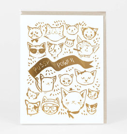 Pussy Power Greeting Card - Christa Pierce