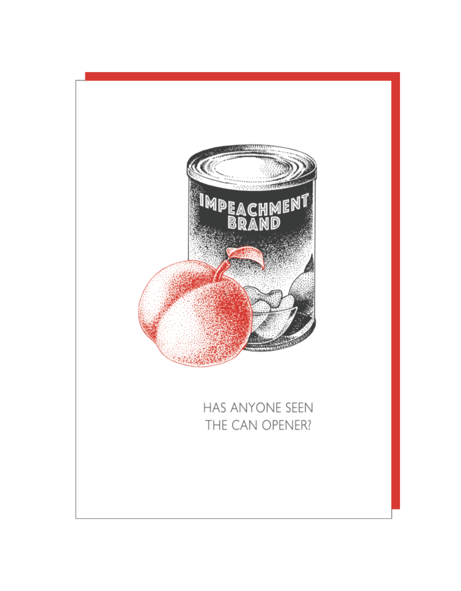 """""""Impeachment"""" Greeting Card - Black and White and Red All Over"""