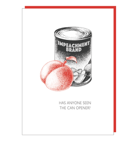 """Impeachment"" Greeting Card - Black and White and Red All Over"
