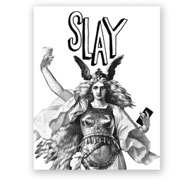 Mincing Mockingbird Slay Greeting Card - The Mincing Mockingbird
