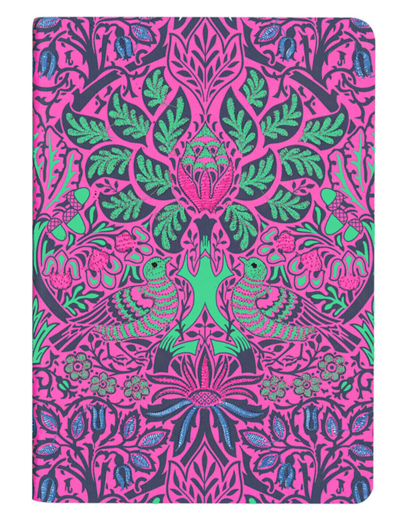 William Morris Dove & Rose Handmade Embroidered Journal