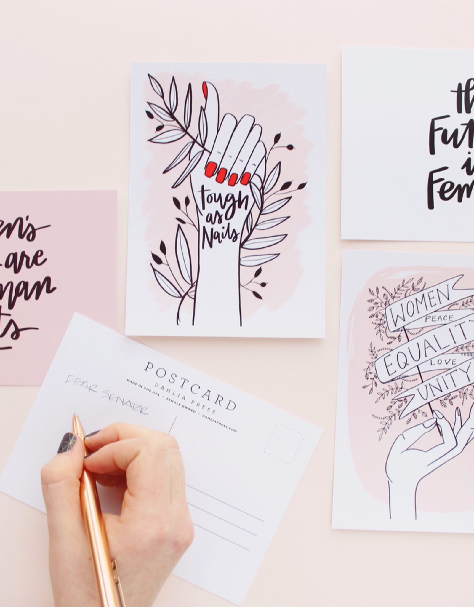 The Future is Female Postcard - Dahlia Press