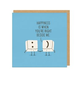 "Ohh Deer ""Happiness is When You're Right Beside Me"" Greeting Card - Ohh Deer"