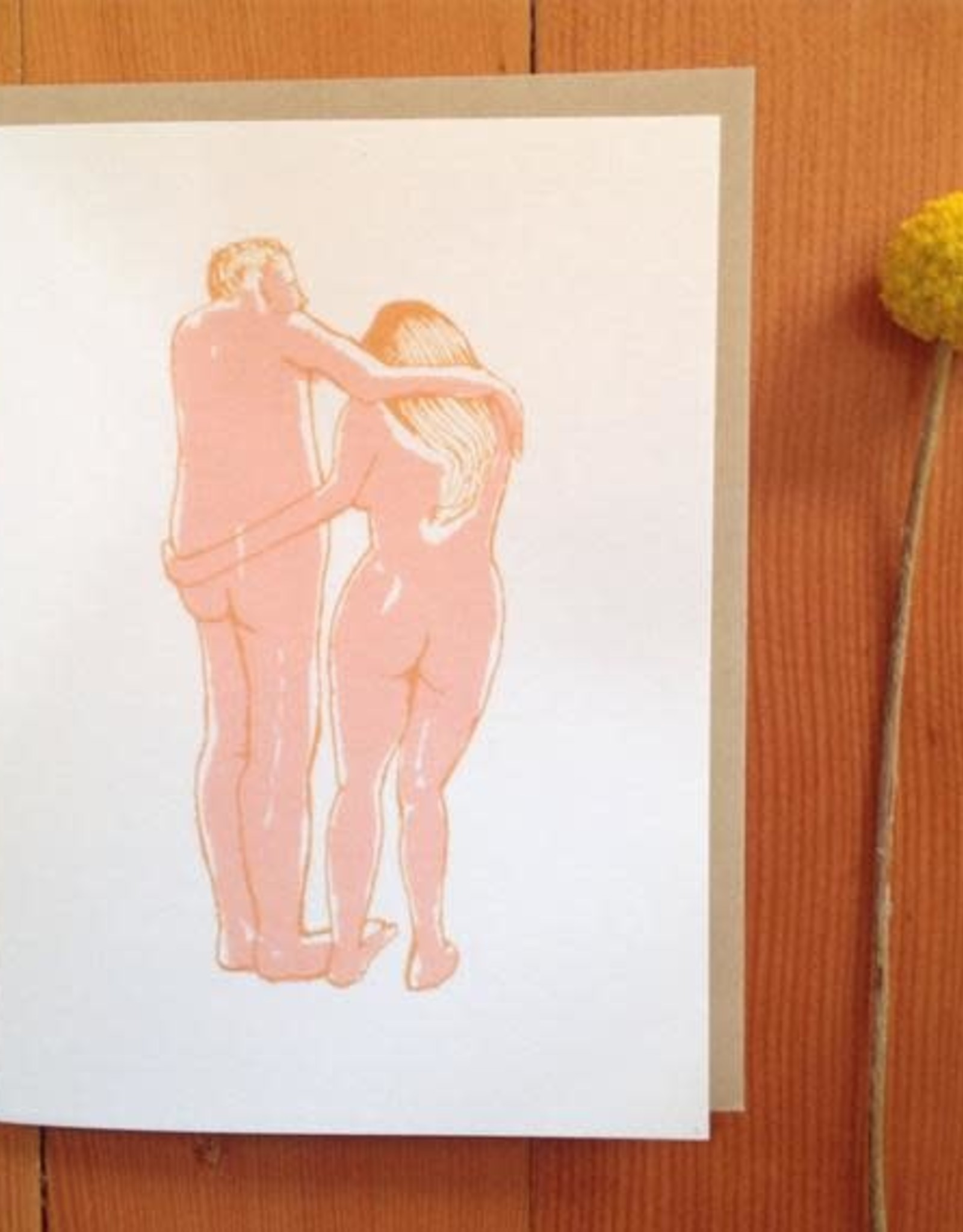 Clumsy Lovers Greeting Card - Sarah Landwehr