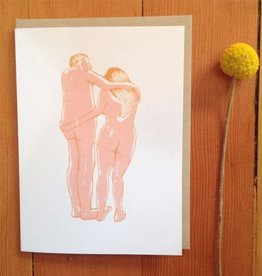 Naked Lovers Greeting Card - Sarah Landwehr