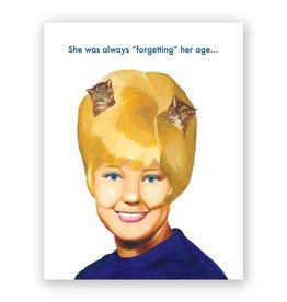 "Mincing Mockingbird ""Always Forgetting Her Age"" Greeting Card - The Mincing Mockingbird"