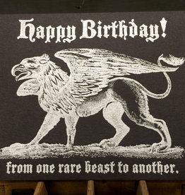 Rare Beast Birthday Greeting Card - Lady Pilot Letterpress