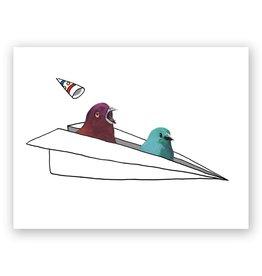 "Mincing Mockingbird ""Coming In Hot"" Birthday Greeting Card - The Mincing Mockingbird"