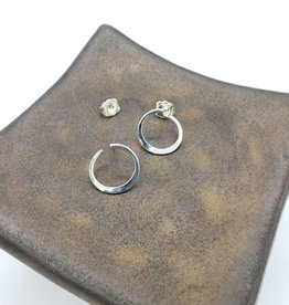 Peter James Jewelry Sterling Twisted Hoop Stud Earrings