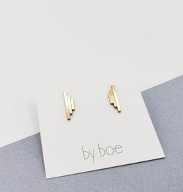 Annika Inez Triple Bar Stud Earrings Gold Fill