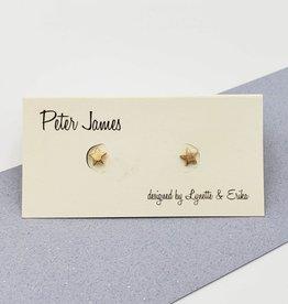 Peter James Jewelry Star Gold Fill Stud Earrings
