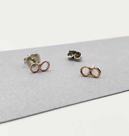 Peter James Jewelry Infinity Stud Earrings - Gold Fill