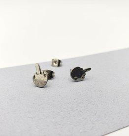 Kirsten Elise Jewelry Middle Finger Stud Earrings