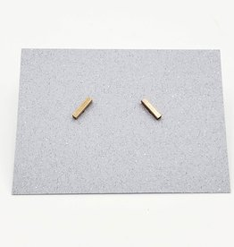 Rose Gold Small Bar Post Earrings