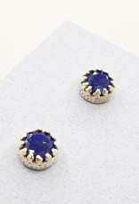 Tiger Mountain Faceted Lapis Stud Earrings