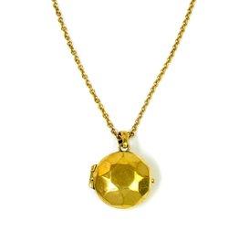 Monserat de Lucca Brass Gemstone Locket Necklace