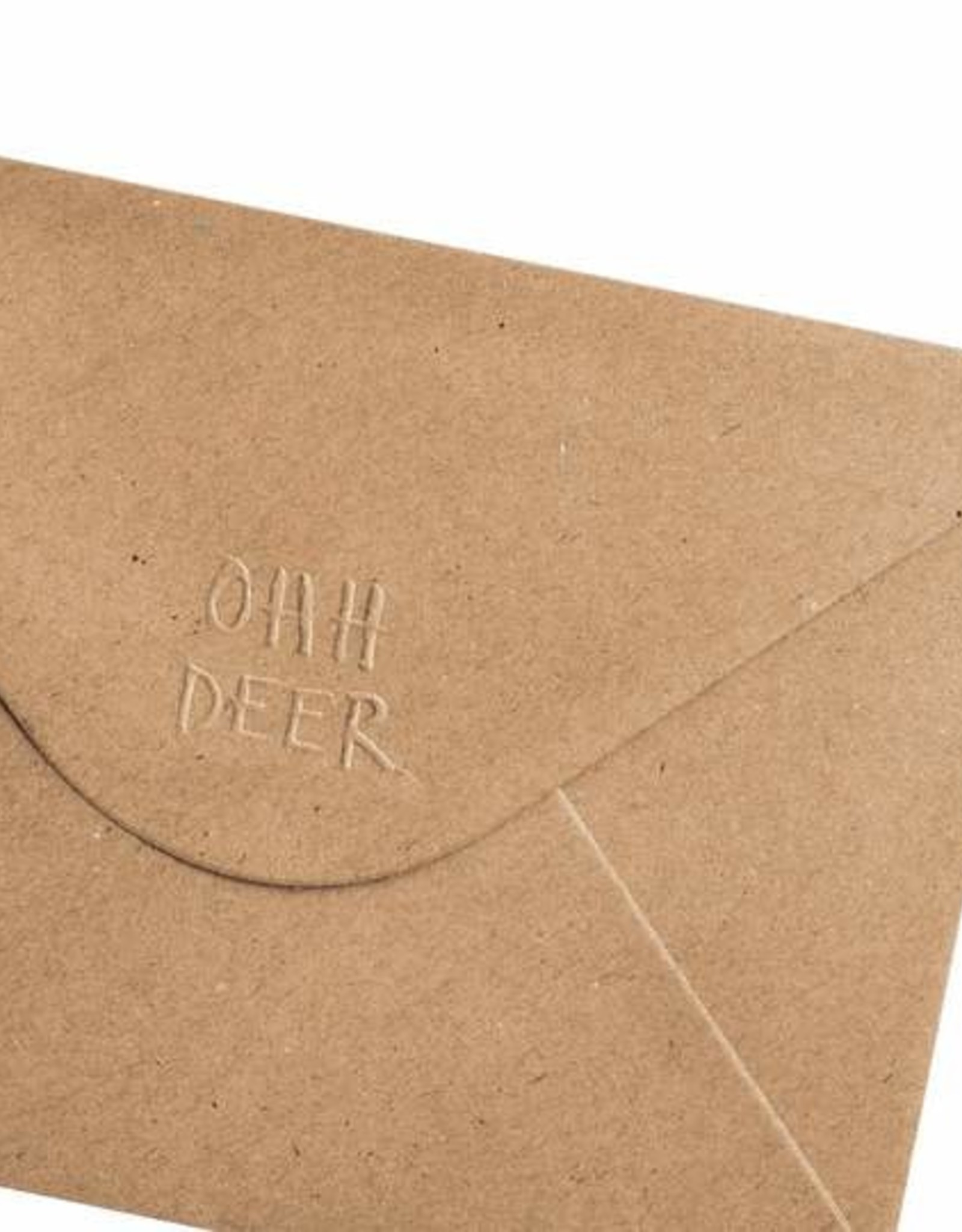 Ohh Deer White Bison Greeting Card  - Ohh Deer
