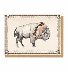 Ohh Deer White Bison Greeting Card  - Ohh Deer