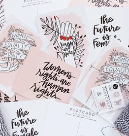 """Women, Equality, Unity"" Postcard Set - Dahlia Press"