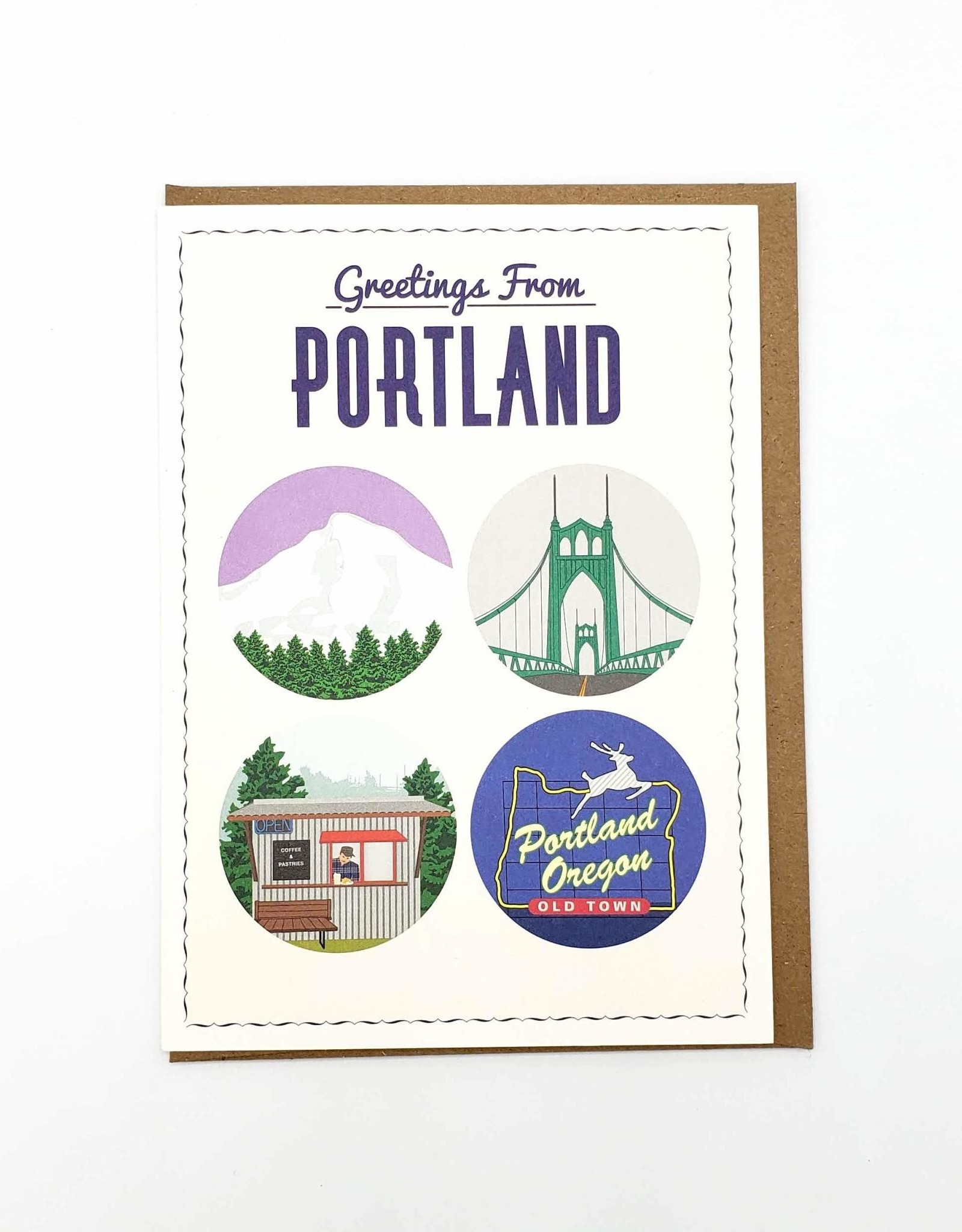 Seltzer Greetings From Portland Greeting Card - Seltzer