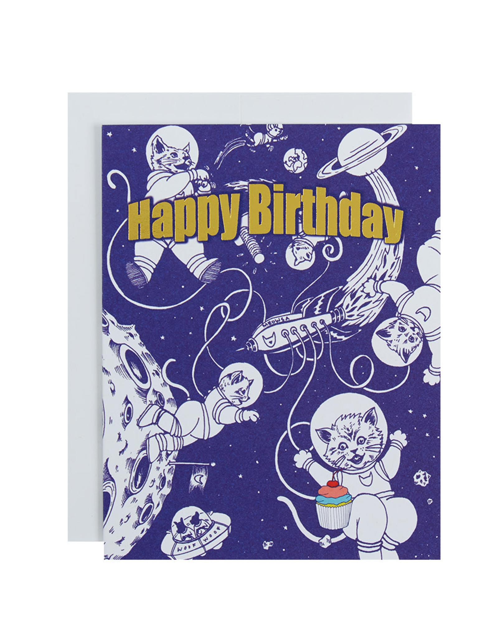 Michael Roger Birthday Kittens Greeting Card by Michael Roger