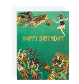 Michael Roger Mermaids Birthday Card by Michael Roger