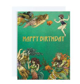 Michael Roger Mermaids Birthday Card by Michael Roger
